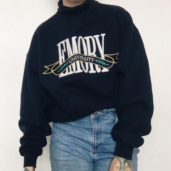 Vintage NWOT Deadstock Emory University Sweatshirt